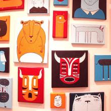 """""""101 Faces"""". Um projeto de Ilustração, Instalações e Pintura de Mickael Brana - 15.01.2017"""