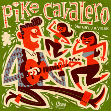 Pike Cavalero - LP cover. A Design, Illustration, Music, Audio, Art Direction, Graphic Design, and Packaging project by Pablo Lacruz - 01.31.2017