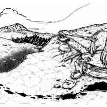 The Blackjaw - Men of Prey (Album artwork, diseño de logo y merch ). Um projeto de Direção de arte e Ilustração de Hugo Sánchez Ochoa - 05.02.2017