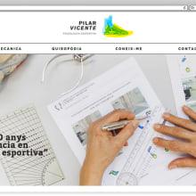 Web para la podóloga Pilar Vicente. Un proyecto de Desarrollo Web de rseoaneb - 14.12.2016