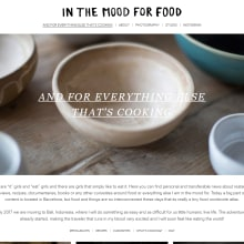 Plantilla original para el blog In the mood for food. Un proyecto de Desarrollo Web de rseoaneb - 30.01.2017