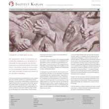 Web para Institut Kaplan. Un proyecto de Desarrollo Web de rseoaneb - 15.11.2014