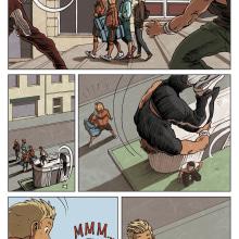 Comic Parkour (francés). Un proyecto de Ilustración y Cómic de Esther Lecina Sesén - 15.03.2016