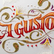 A Gusto. A H, werk, Kochen, Grafikdesign, T, pografie, Schrift und Kalligrafie project by Panco Sassano - 25.09.2014