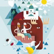 Finnish travel poster . Un proyecto de Ilustración de Albert Pinilla Ilustrador - 20.02.2017