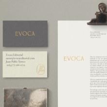 Evoca Editorial. A Kunstleitung, Br, ing und Identität, Verlagsdesign, Grafikdesign, Webdesign, Schrift und Naming project by Treceveinte - 21.02.2017