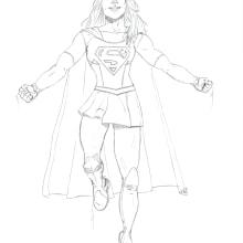 Supergirl. Un proyecto de Cómic de Alejandro Fuentes Alonso - 10.10.2016