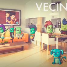 Vecinitos: Creación de un microuniverso de personajes, enfocados a una miniserie animada.. Um projeto de Ilustração, Animação e Design de personagens de Kevin Rafael Araujo - 26.02.2017