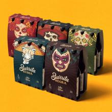 Cerveza Burrita. A Illustration, Grafikdesign und Verpackung project by Matias Harina - 11.10.2016