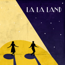 LA LA LAND Posters. A Illustration, Kino, Video und TV, Bildende Künste, Grafikdesign und Kino project by Juanjo Murillo - 13.03.2017