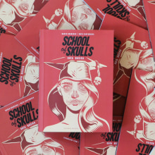 """SCHOOL of SKULLS"" Guía Básica. A Illustration, Verlagsdesign, Bildung, Bildende Künste und Grafikdesign project by Matu Santamaria - 14.03.2017"