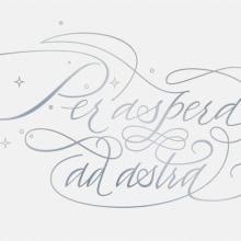 Per aspera ad astra. Un proyecto de Tipografía, Caligrafía y Lettering de José Luis Coyotl Mixcoatl - 07.08.2016