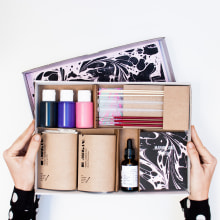 Marbling Kit. A Design, Crafts, and Packaging project by Fábrica de Texturas - 03.22.2017