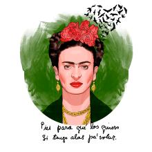 Frida Kahlo: Pies para qué los quiero si tengo alas pa'volar.. A Illustration project by José Pérez Gandía - 03.24.2017