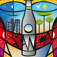 Afiche Fernet Branca. Um projeto de Design gráfico de Bruno Davoli - 24.03.2017