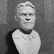 Busto miniatura 1/6 de Willem Dafoe. Un proyecto de Diseño de personajes, Escultura y Diseño de juguetes de Manuel Barroso Parejo - 30.03.2017