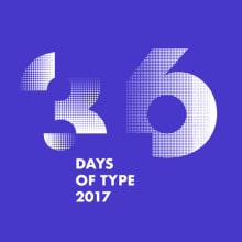 36 Days of Type 2017. Monocromatico. A T und pografie project by BlueTypo - 30.03.2017