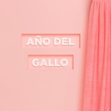 Año del Gallo. A Illustration, 3D, and Art Direction project by Yolanda Hache - 04.02.2017