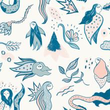 Mi Proyecto del curso: Diseño de estampados textiles. Um projeto de Ilustração, Design de acessórios e Moda de cristina carmona saucedo - 03.04.2017
