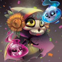 Catrina chiquita. Un proyecto de Ilustración y Diseño de personajes de Layla Tapia Flores - 12.04.2017