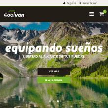 BRANDING, WEB Y GRÁFICO - Coolvan. A Design, Graphic Design, Web Design, Web Development, Cop, and writing project by Concepción Domingo Ragel - 01.12.2017
