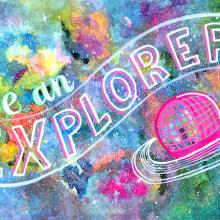 Be an Explorer! . Un proyecto de Diseño, Pintura y Diseño de producto de Josefina Nino - 21.04.2017