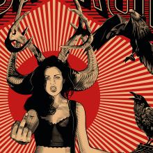 Poster Rock N Roll: Técnicas de grabado digital. Un proyecto de Diseño gráfico e Ilustración vectorial de Martin Corella - 24.04.2017