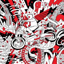 Honda X-ADV. Un proyecto de Pintura de Eduardo Bertone - 03.05.2017