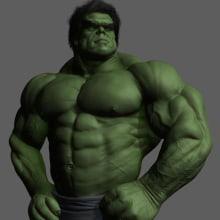 Versión Hulk,modelado en zbrush. A 3D project by Rafa Zabala - 05.13.2017