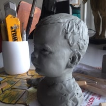 Bruno,modelado en plastilina . A 3D, and Sculpture project by Rafa Zabala - 05.15.2017