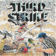 Third Strike Álbum Artwork. Un proyecto de Ilustración, Dirección de arte, Diseño gráfico, Packaging, Diseño de producto y Tipografía de Ink Bad Company - 18.05.2017