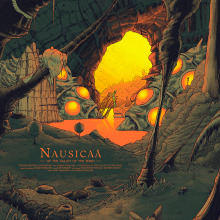 Nausicaä del valle del viento. A Graphic Design, Illustration, and Screen-printing project by Cristian Eres - 05.20.2017