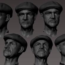 Sean Connery work in progress. A 3D project by Rafa Zabala - 05.23.2017