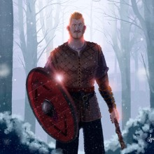 Björn Ragnarsson - Vikings. Un proyecto de Ilustración, Diseño de personajes y Televisión de Lorena Loguén - 16.02.2017
