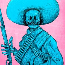 ¡Viva Zapata!  . Um projeto de Design, Ilustração, Design de personagens, Pintura, Serigrafia e Comic de Felipe Vasconcelos - 26.05.2017