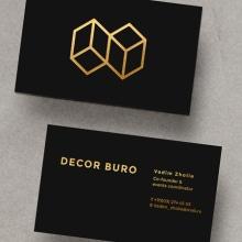 DECOR BURO Branding, event design studio.. A Br, ing & Identit project by Amaia Zelaiaundi - 01.15.2017
