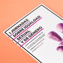 I Jornadas sobre Igualdad Sexual y de Género. Um projeto de Design de informação, Design gráfico e Fotografia de Xana Morales - 01.03.2017