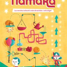Portada revista infantil Namaka. Un proyecto de Ilustración de Albert Pinilla Ilustrador - 14.06.2017