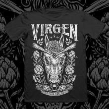Camiseta Virgen ( del boceto al textil ). Um projeto de Ilustração, Direção de arte e Serigrafia de Hugo Sánchez Ochoa - 23.06.2017