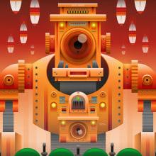 Ilustración | Goodbye Amerika!. Un proyecto de Diseño, Ilustración, Dirección de arte, Ilustración vectorial y Creatividad de Luis Daniel Pérez Molina - 27.06.2017