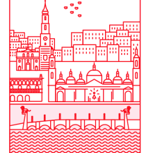 Zaragoza en Iconos. Un proyecto de Diseño de iconos, Ilustración e Infografía de Maria Vicente Cordoba - 29.06.2017