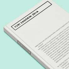Libro Yuri Zagorin: ZD+A. Un progetto di Progettazione editoriale di David Kimura - 04.11.2015