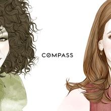 Retratos para COMPASS New York . Um projeto de Ilustração de Mercedes deBellard - 06.07.2016
