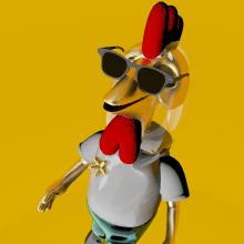 Mi Proyecto del curso: Diseño de personajes en Cinema 4D: del boceto a la impresión 3D. Un proyecto de 3D, Diseño gráfico e Ilustración de Pablo Henao PK* - 05.12.2016