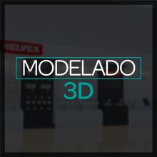 Diseño 3D: Stand, módulos, exhibidores. Um projeto de Design e 3D de Melissa Gutierrez Reyes - 15.10.2016
