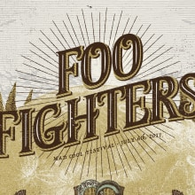 FOO FIGHTERS. A Illustration, Graphic Design, and Collage project by Xavi Forné - 07.13.2017