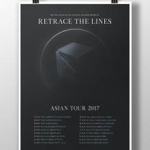 Retrace The Lines Asian Tour 2017. A Graphic Design project by Alejandro Magnieto Benlliure - 07.14.2017