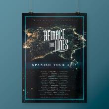 Retrace The Lines Spanish Tour 2017. A Graphic Design project by Alejandro Magnieto Benlliure - 07.14.2017
