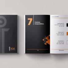 Mi Proyecto del curso: Introducción al Diseño Editorial | Manual de marca ROA.. Un proyecto de Diseño editorial y Diseño gráfico de Nicolás Romero - 24.07.2017