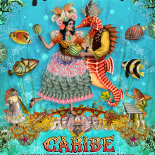 Río Loco 2014, cartel para festival de música en Francia. A Illustration, Art Direction, Br, ing, Identit, and Collage project by Zoveck Estudio - 04.23.2014